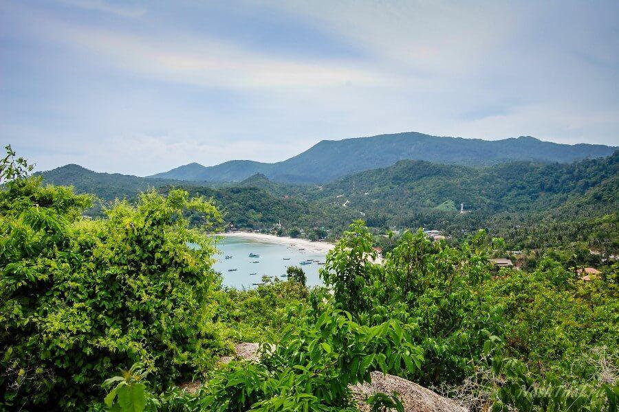 Вид на залив с горы