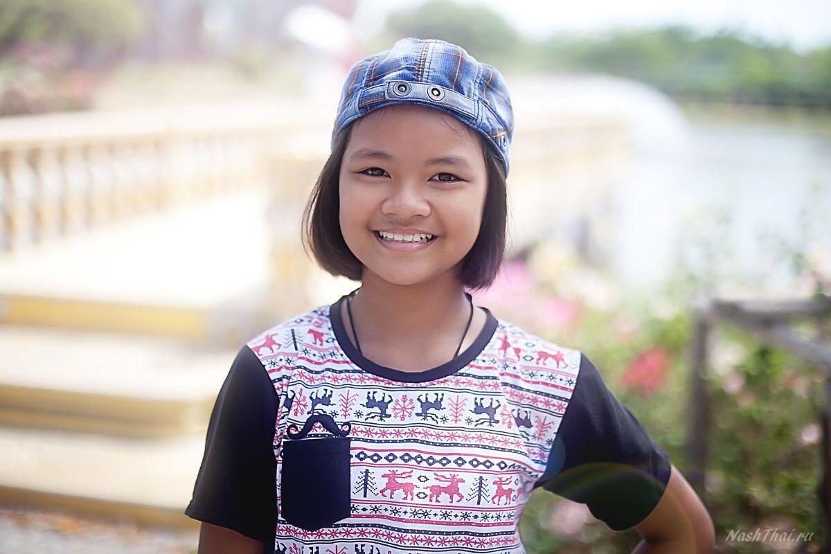 Девочка тайка в Бангкоке