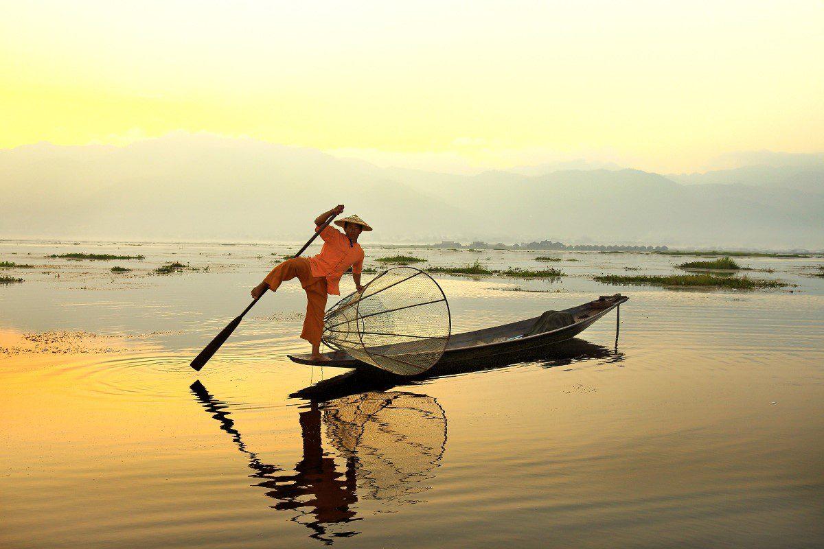 Рыбак в Бирме