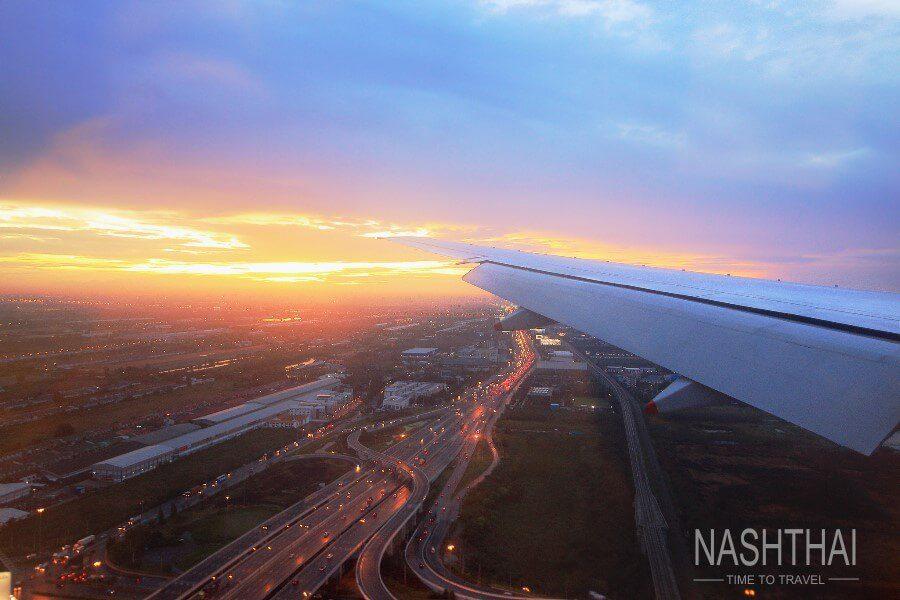Посадка самолёта в Бангкоке